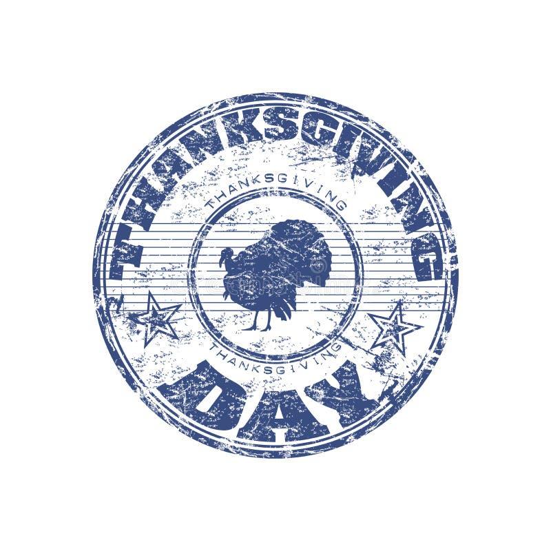 De zegel van thanksgiving day royalty-vrije illustratie