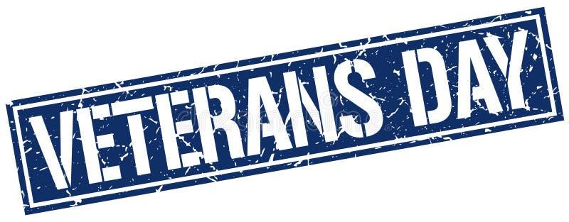 De zegel van de veteranendag vector illustratie