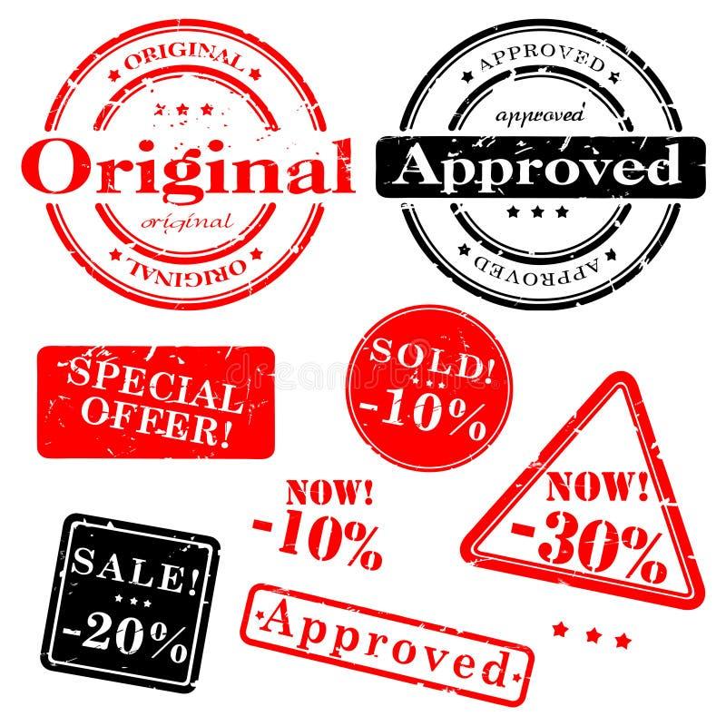 De zegelreeks van de verkoop vector illustratie