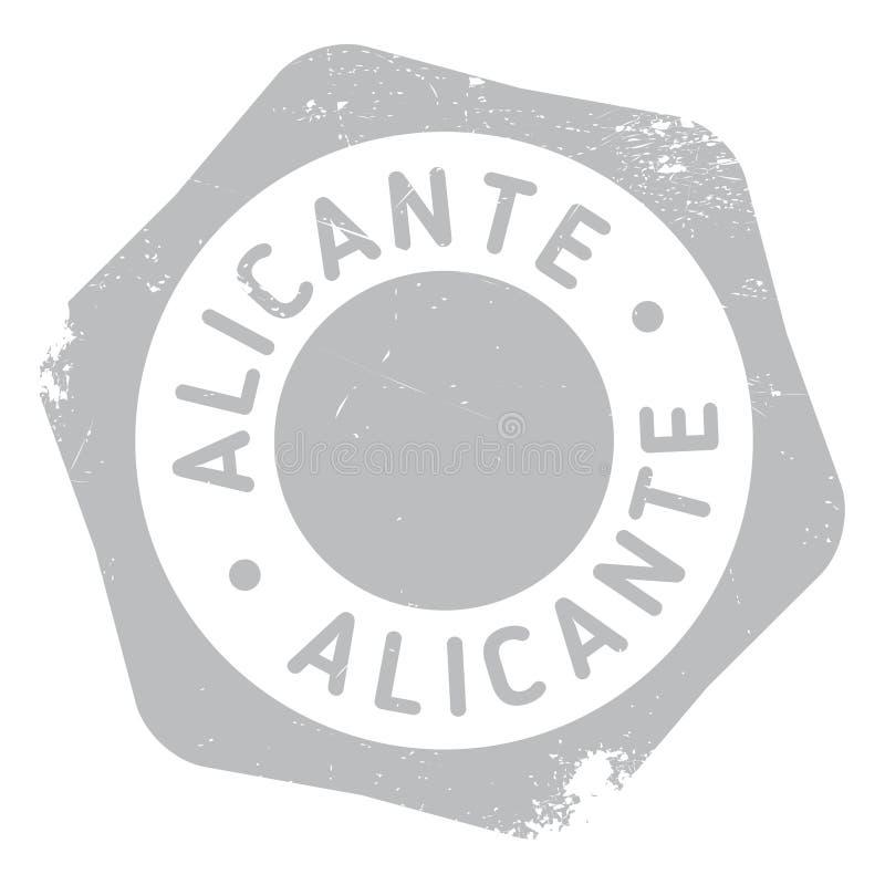 De zegelrubber van Alicante grunge stock illustratie