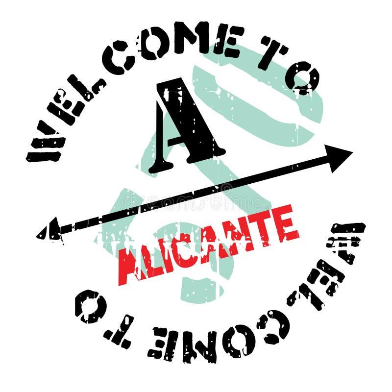 De zegelrubber van Alicante grunge vector illustratie