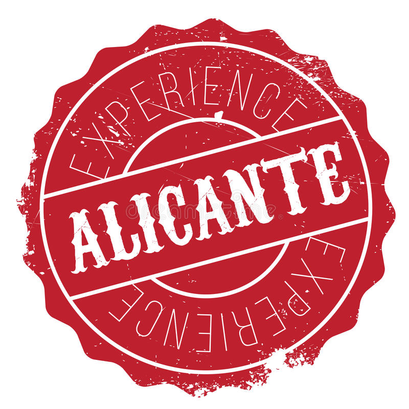 De zegelrubber van Alicante grunge royalty-vrije illustratie