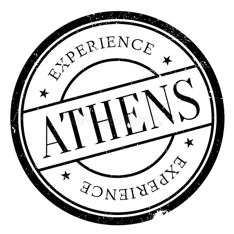 De zegelrubber van Athene grunge royalty-vrije illustratie