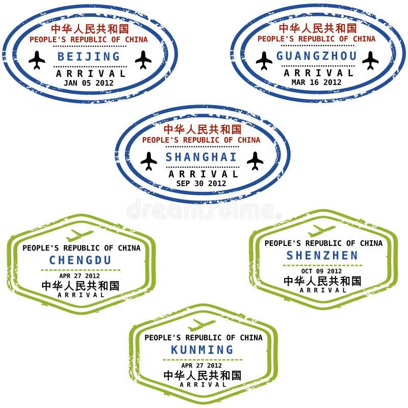 De zegels van China vector illustratie