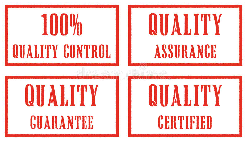 De zegels van de kwaliteit stock illustratie