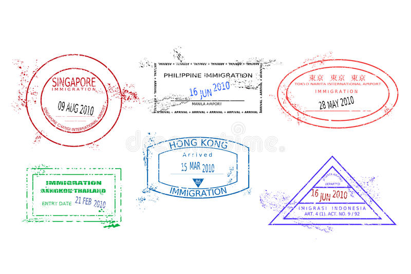 De zegels van de reis royalty-vrije illustratie