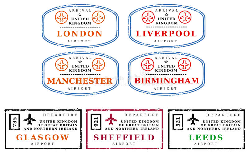De zegels van de reis - het UK vector illustratie