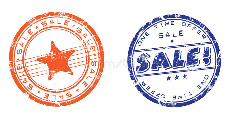 De zegels van de verkoop vector illustratie