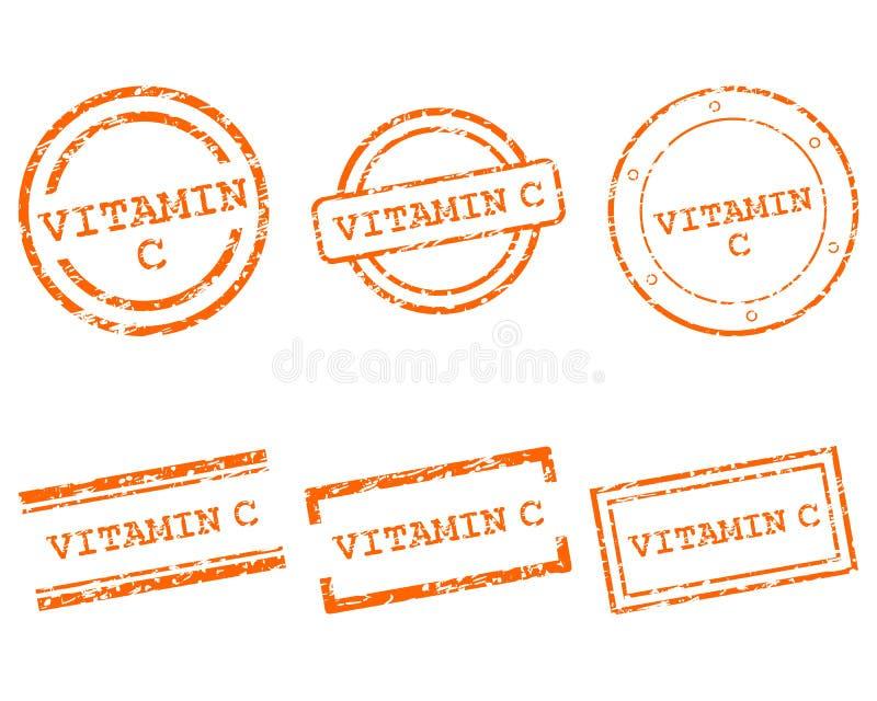 De Zegels Van De Vitamine C Stock Foto