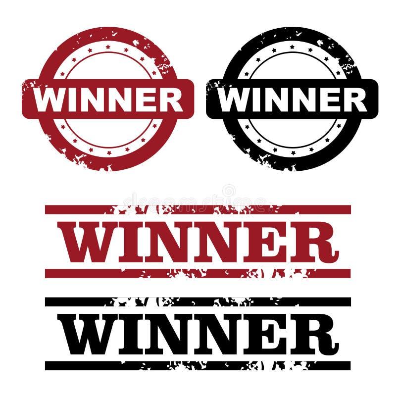 De zegels van de winnaar royalty-vrije illustratie