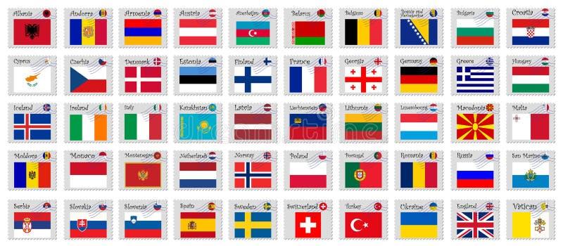 De zegels van Europa vector illustratie