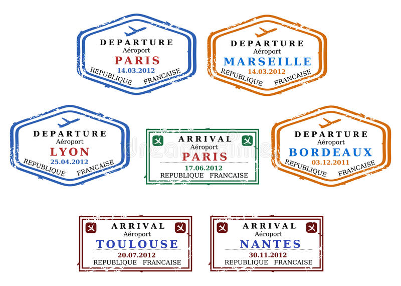 De zegels van het visum vector illustratie