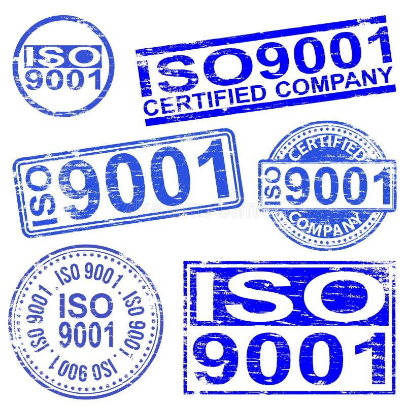 De Zegels van ISO 9001 stock illustratie