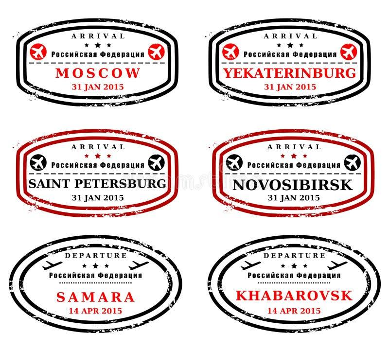 De zegels van Rusland royalty-vrije illustratie