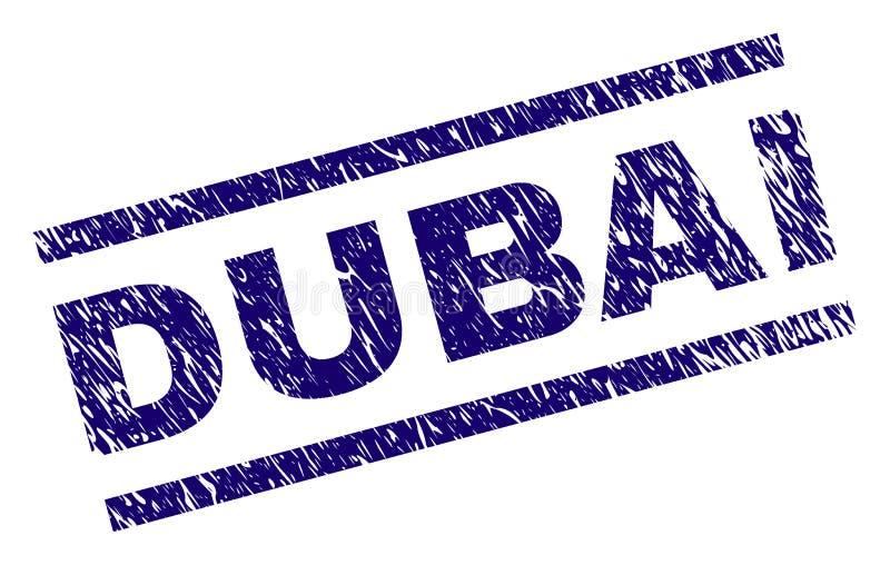De Zegelverbinding van Grunge Geweven DOUBAI royalty-vrije illustratie