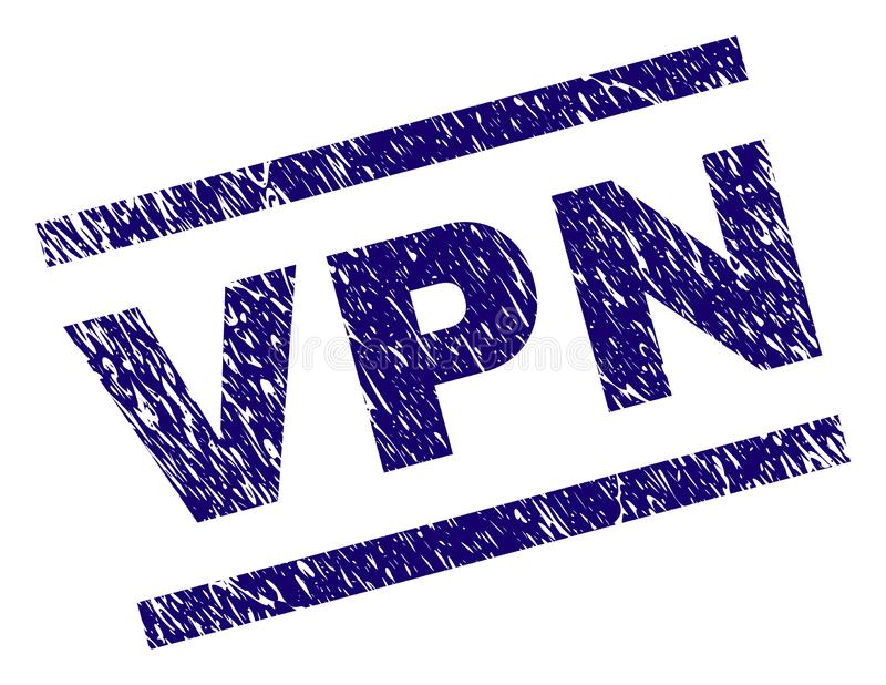 De Zegelverbinding van Grunge Geweven VPN stock illustratie