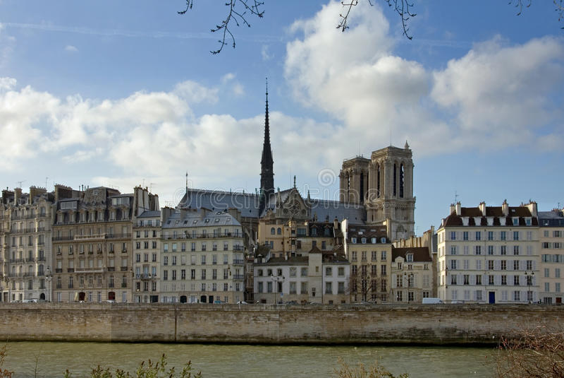De zegen van de Rivier, Parijs, Frankrijk stock afbeelding