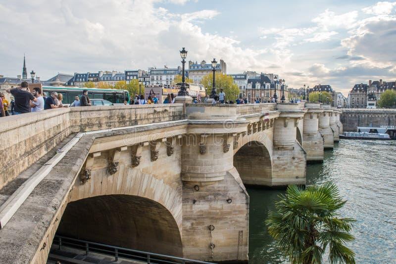 De Zegenrivier, Parijs, Frankrijk - Reis Europa - 15 Oktober, 2018 royalty-vrije stock foto