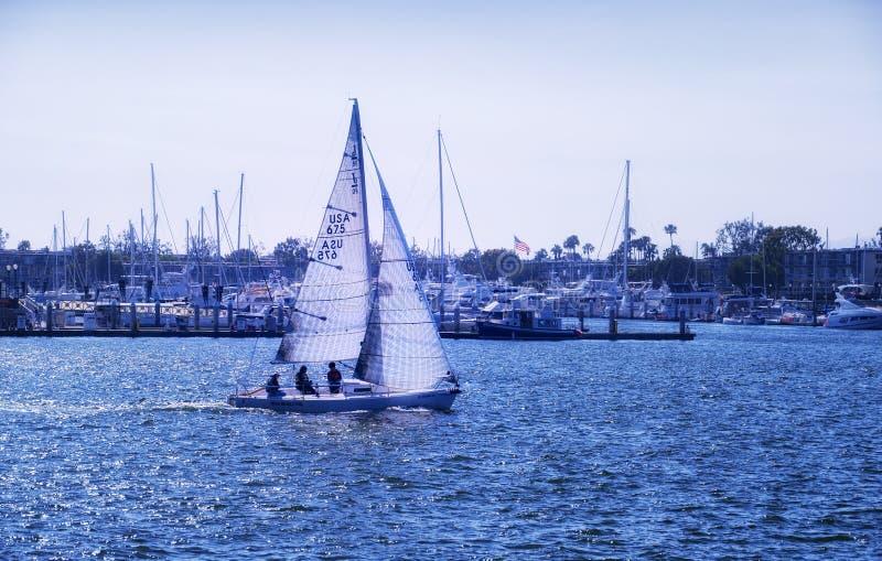 De zeilboot van Marina Del Rey Californië stock foto's