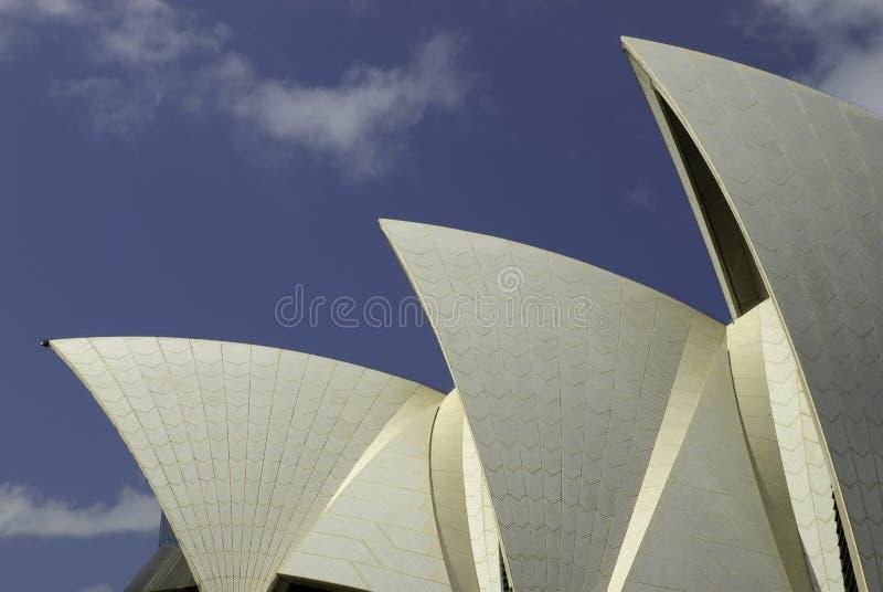 De zeilen van Sydney Opera House, Australië royalty-vrije stock foto's