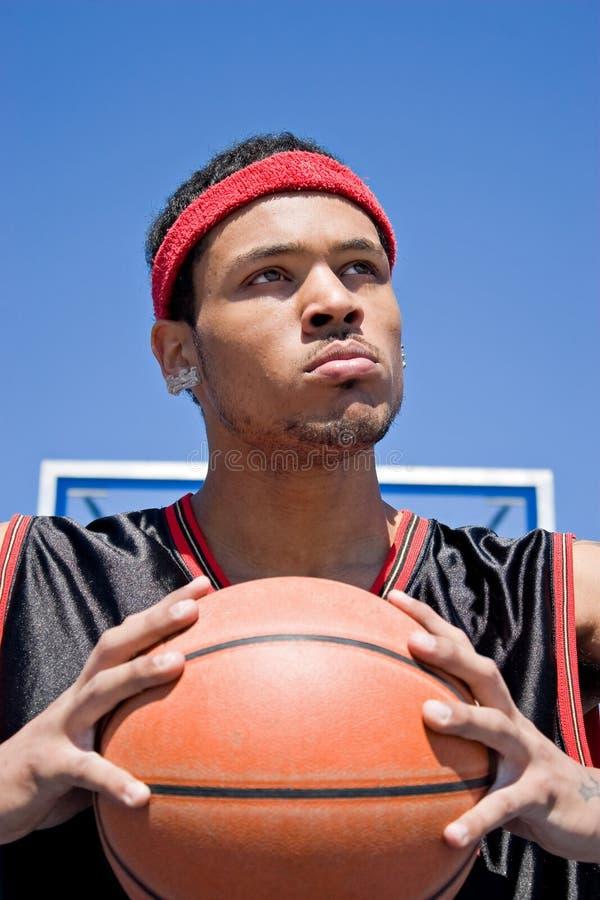 De zekere Speler van het Basketbal stock foto's