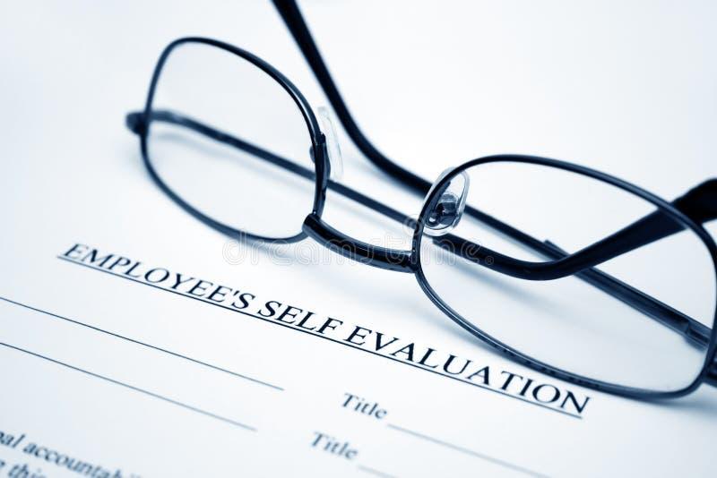 De zelfevaluatie van de werknemer royalty-vrije stock afbeeldingen