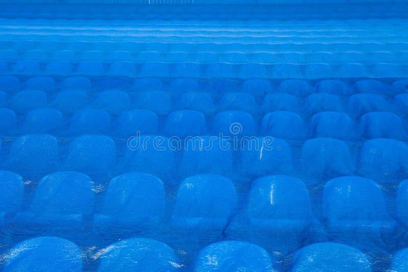De zetels in het stadion onder de film De Wereldbeker 2018 van FIFA royalty-vrije stock foto's