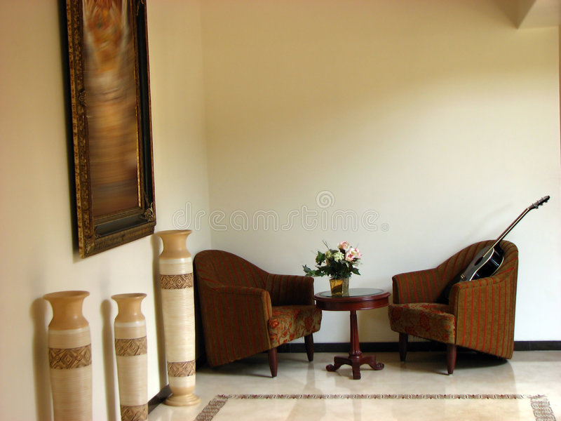 De Zetels van de gitaar stock foto