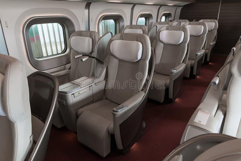 De zetels van de Granklasse van de trein E5 van de Reekskogel (Hoge snelheid) stock afbeelding