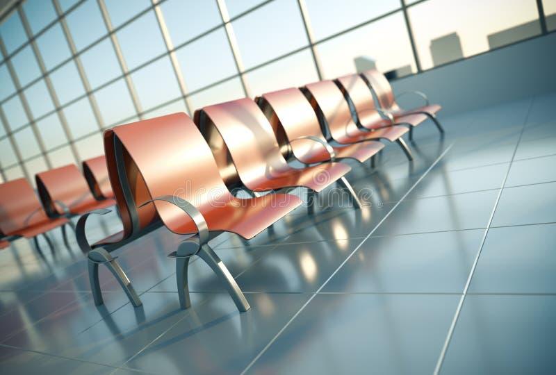 De zetels van de luchthaven vector illustratie