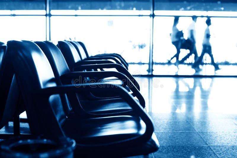 De zetels van de luchthaven stock afbeelding
