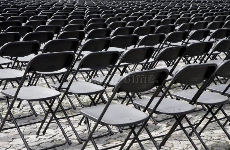 De zetels van het auditorium stock foto's