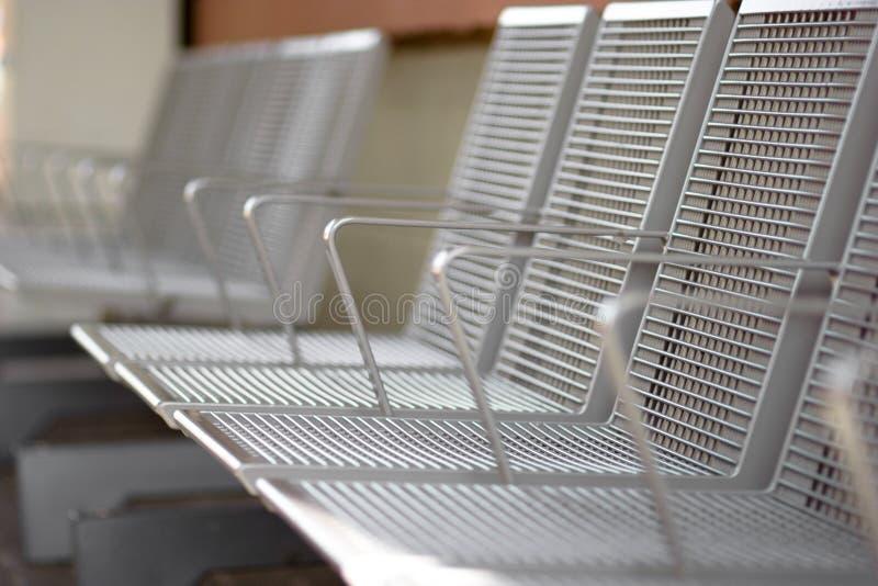 De zetels van het metaal stock afbeelding