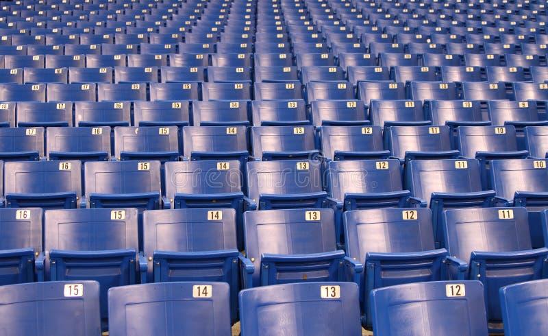 De Zetels van het stadion/van de Arena royalty-vrije stock afbeeldingen