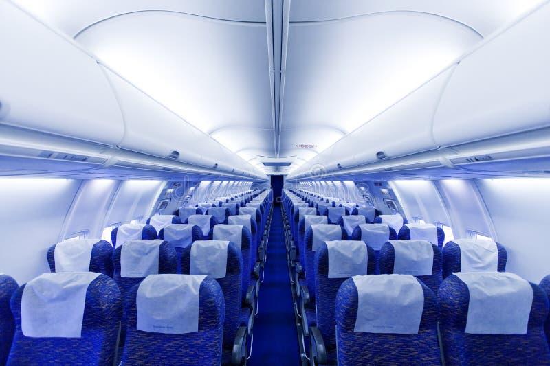 De zetels van het vliegtuig