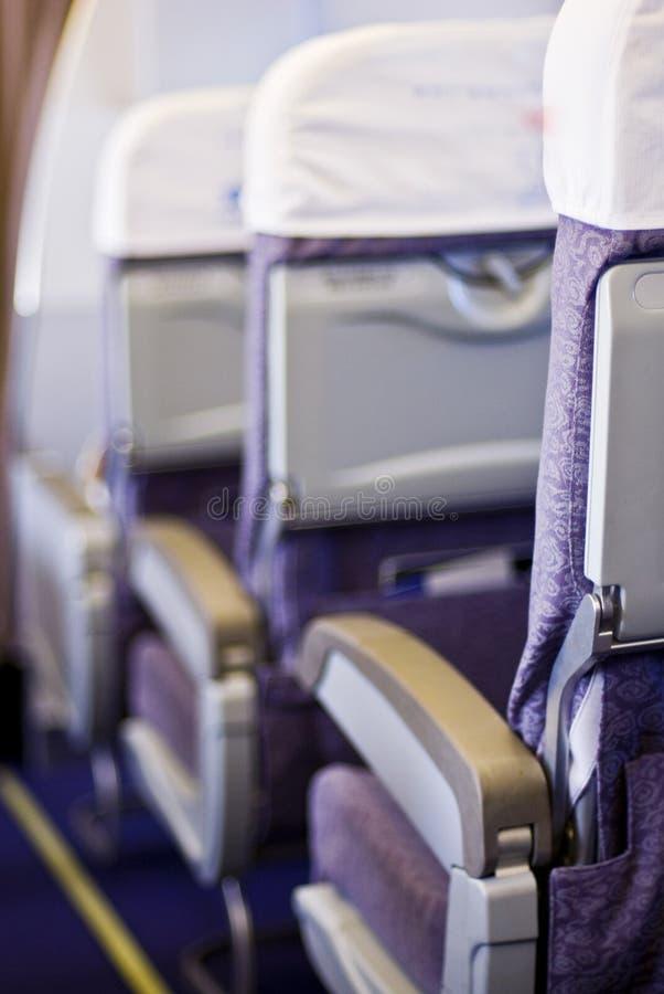 De zetels van het vliegtuig royalty-vrije stock afbeelding