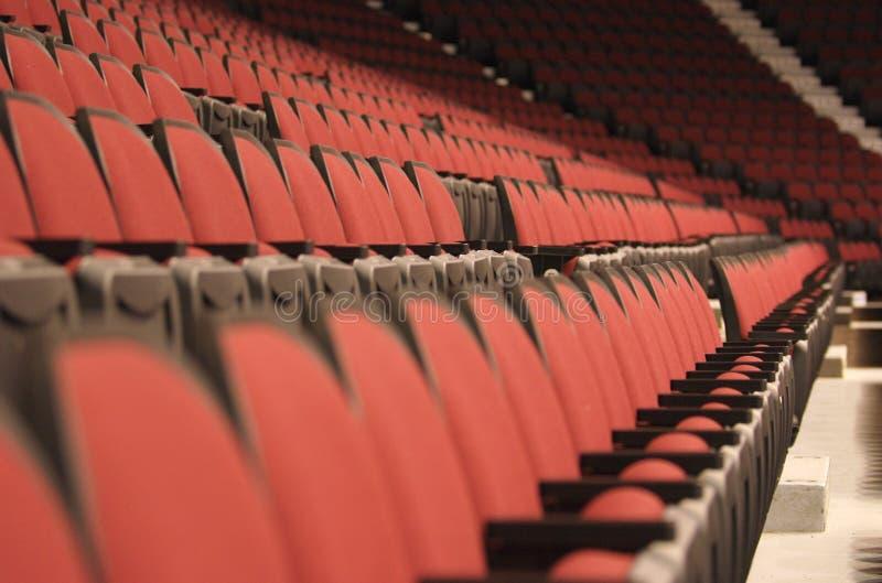 De zetelslandschap van het stadion stock fotografie