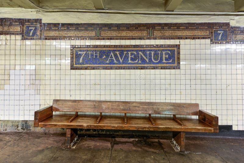 De zevende Post van de Wegmetro - Brooklyn, New York royalty-vrije stock afbeelding