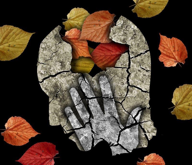 De ziekte van Alzheimer van de zwakzinnigheidsdepressie stock afbeelding