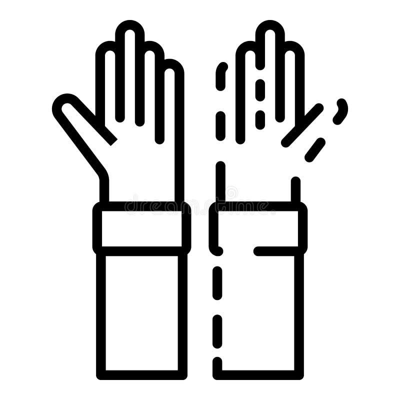 De ziektepictogram van handenalzheimers, overzichtsstijl stock illustratie