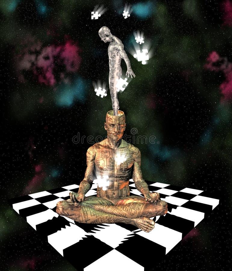 De ziel van Cyborg royalty-vrije illustratie