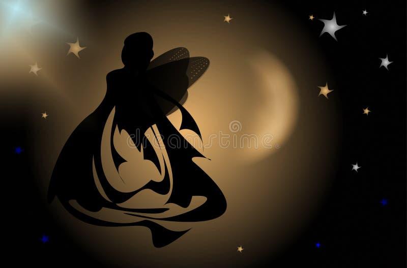 De ziel van de vrouw, licht en magisch royalty-vrije illustratie