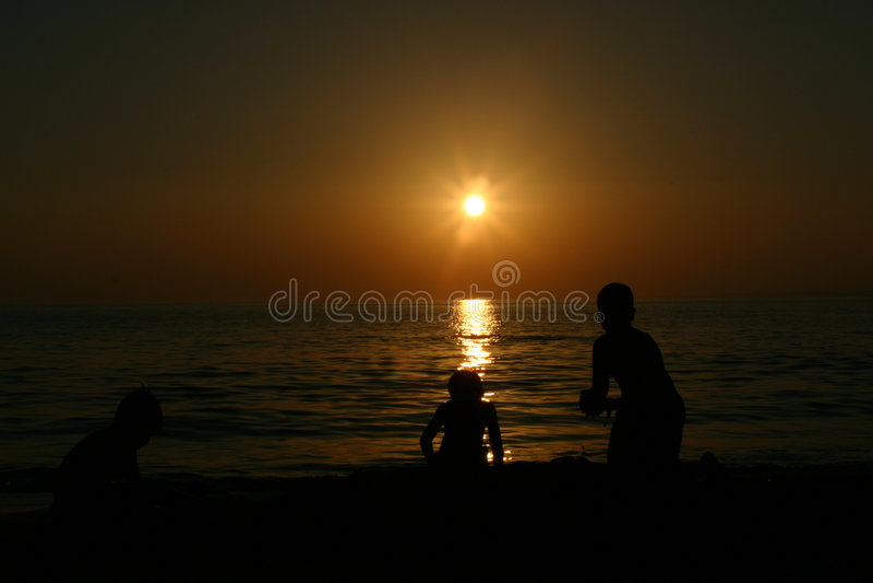 De zij zonsondergang van Antalya Turkiye royalty-vrije stock foto