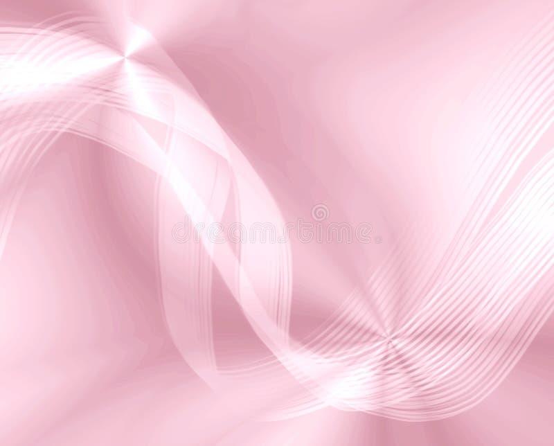 De zijdeachtige Golven van het Lint stock illustratie