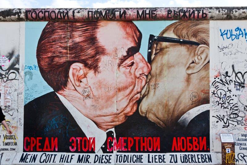 De Zijgalerij van het oosten in Berlijn, Duitsland royalty-vrije stock foto's