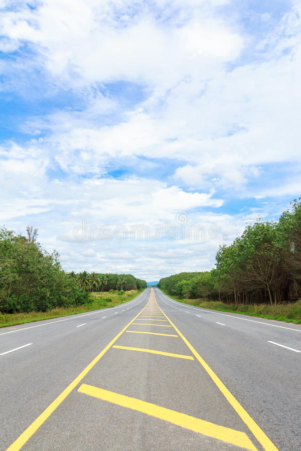 De zijweg van het land royalty-vrije stock afbeelding