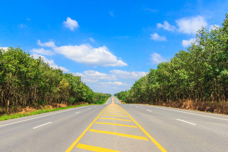 De zijweg van het land stock foto