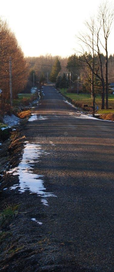De zijweg van het land stock fotografie