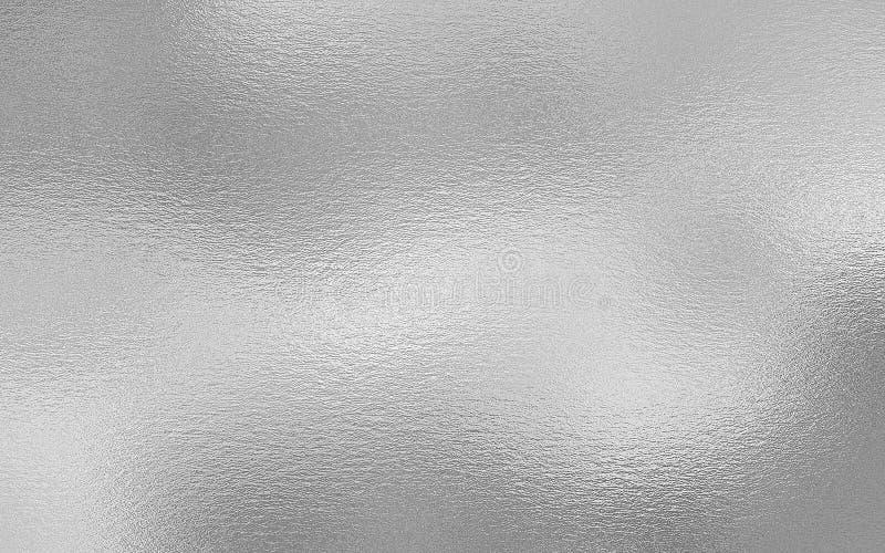De zilveren achtergrond van de folie decoratieve textuur stock afbeelding