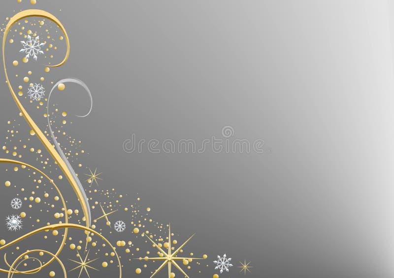 De zilveren Achtergrond van Kerstmis vector illustratie